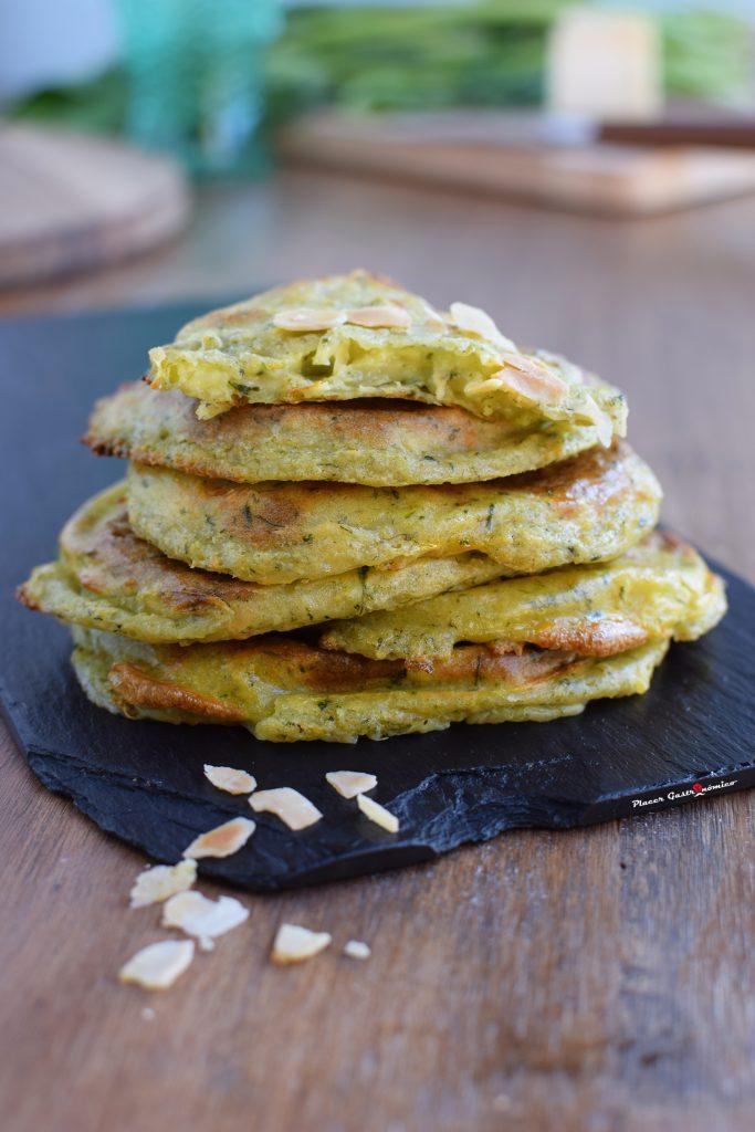 Receta Tortitas queso espinacas